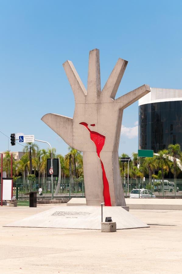 Latein-Amerika-Denkmal Sao Paulo stockfotografie