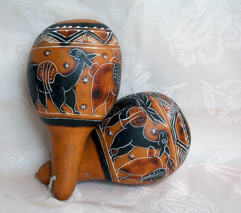 Lateinische Musikinstrumente 1 stockbild