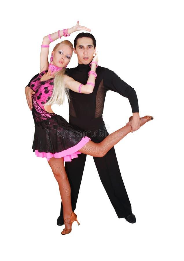 Lateinische Tänzer über Weiß stockfotos