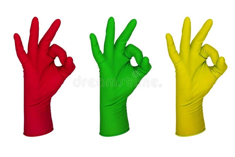 Lateksowa rękawiczka fotografia stock