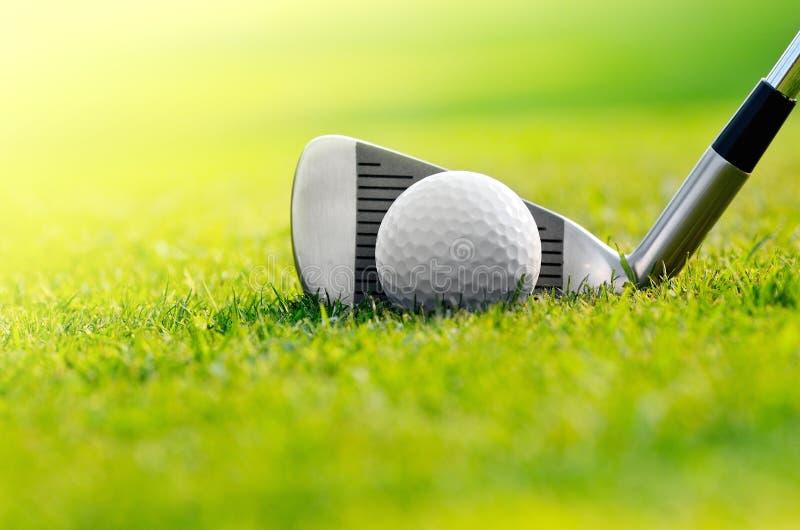 Laten we golf stock foto
