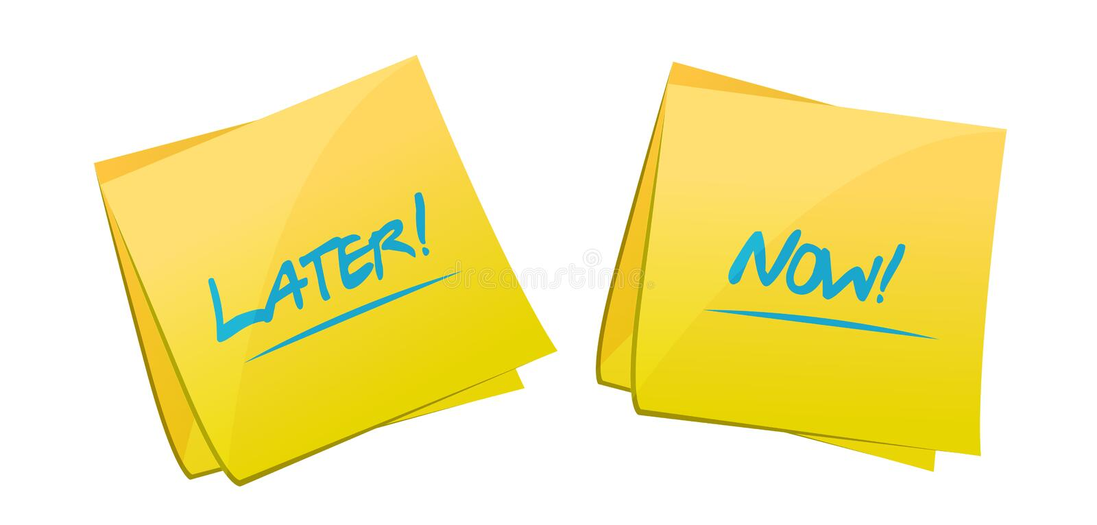 later and now post it concept illustration design vector illustration