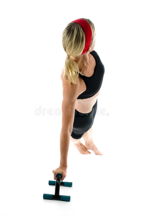 Lateral core pose push up yoga royalty free stock image