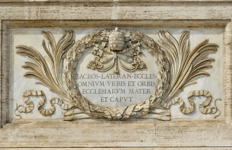 Lateran大教堂的圣约翰在罗马,最重要的churc 免版税库存图片