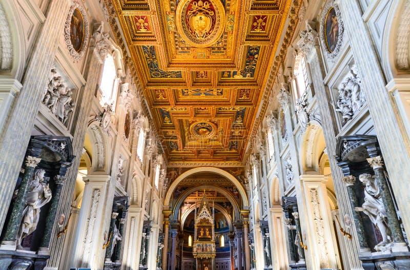 Lateranbasiliek, Rome, Italië stock fotografie