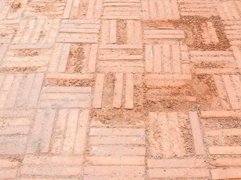 Laterite tegelvloer met de barsttextuur royalty-vrije stock foto