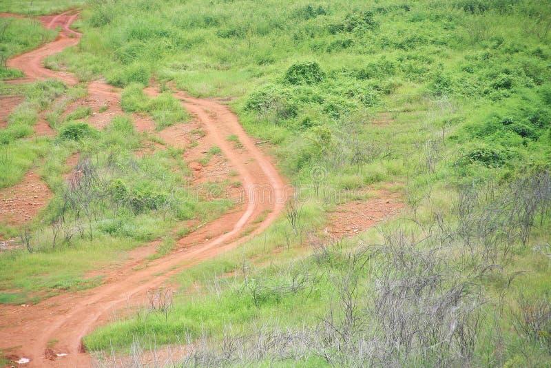 Lateritic δρόμος αργίλου στοκ εικόνες