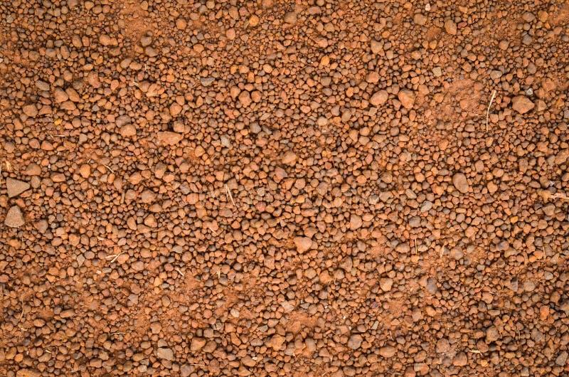 Lateritic текстура почвы, взгляд сверху стоковое изображение