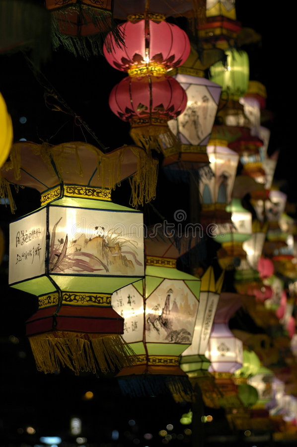 Laterne-Festival in Singapur stockfotos