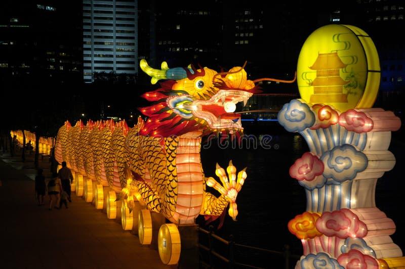 Laterne-Festival in Singapur, Drache stockbilder