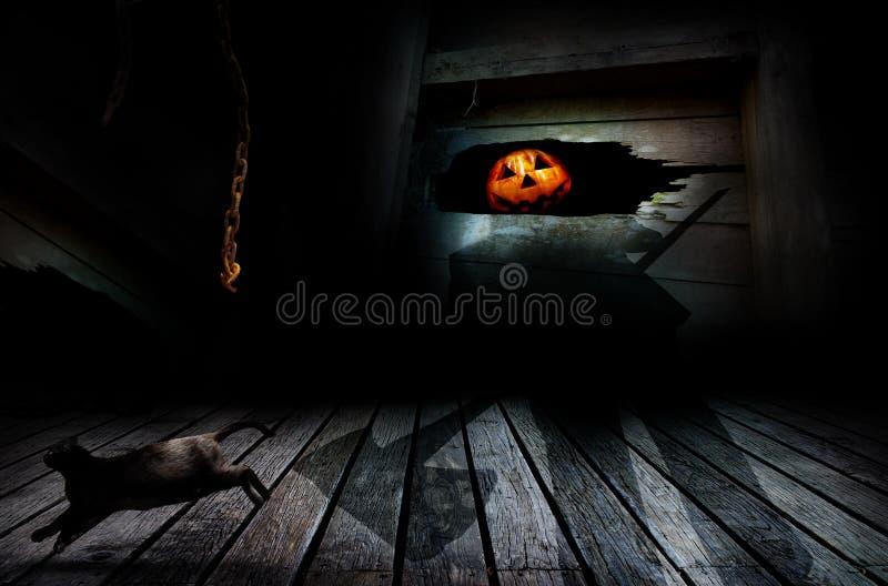 Laterne Halloween-Jack O stockfotografie