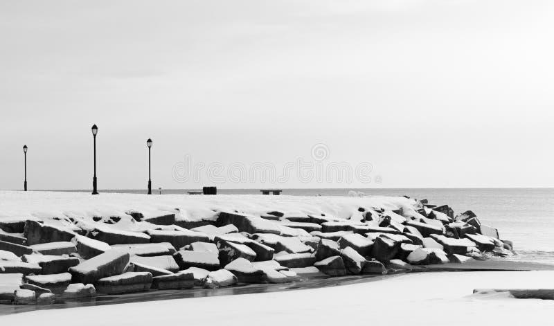 Laternen auf einem Michigan See in Chicago stockfotos