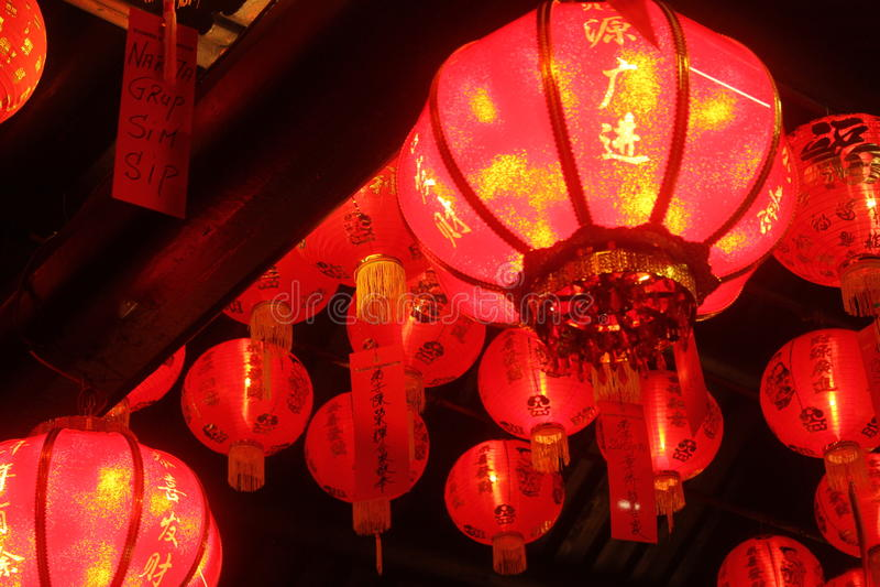 Laternen in den Tempeln lizenzfreie stockfotografie