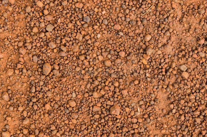 Laterytowa glebowa tekstura, odgórny widok obraz royalty free