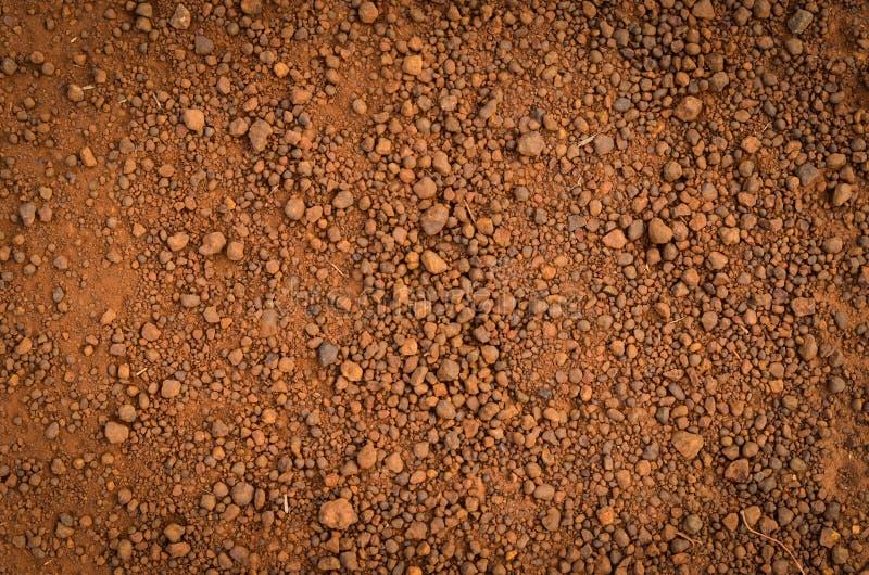 Laterytowa glebowa tekstura, odgórny widok obrazy stock