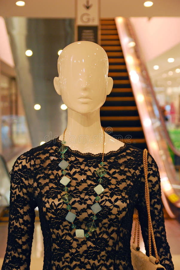 Latest Fashion Design on a Mannequin. With Handbag stock photos