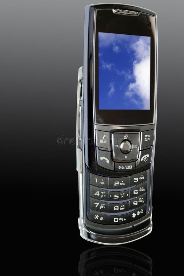 Latest Mobile Phone. Sleek Made in Korea model stock image