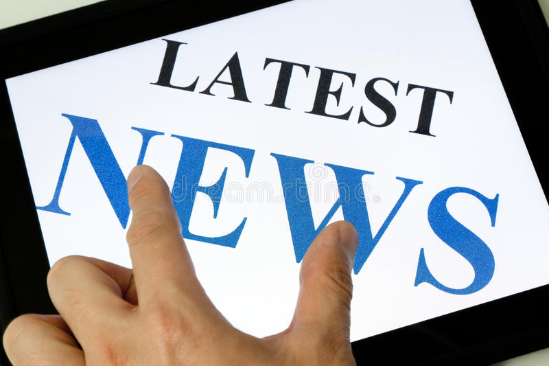 Latest News. And Touch Screen, business concept royalty free stock photos