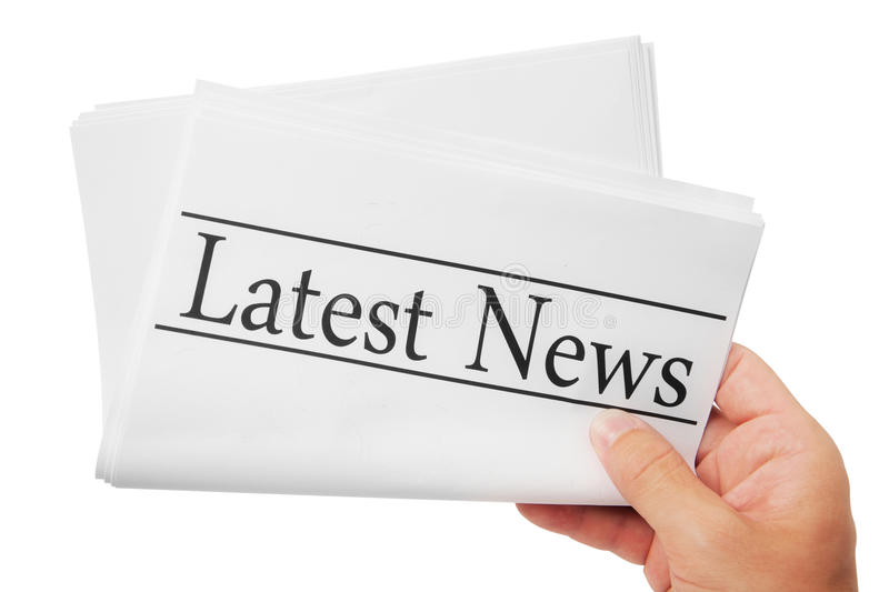 Latest News. Papers sheet with latest news word royalty free stock image