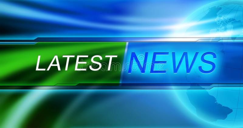 Latest News background wallpaper. Lates News tag at blue background. stock photos