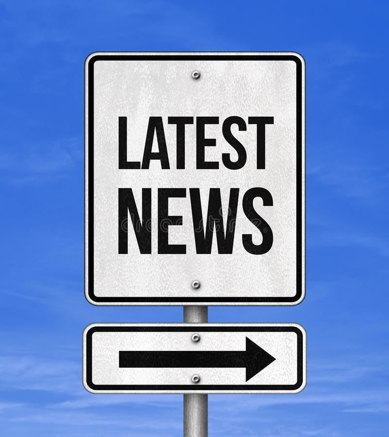 Latest News. Road sign symbol stock photo