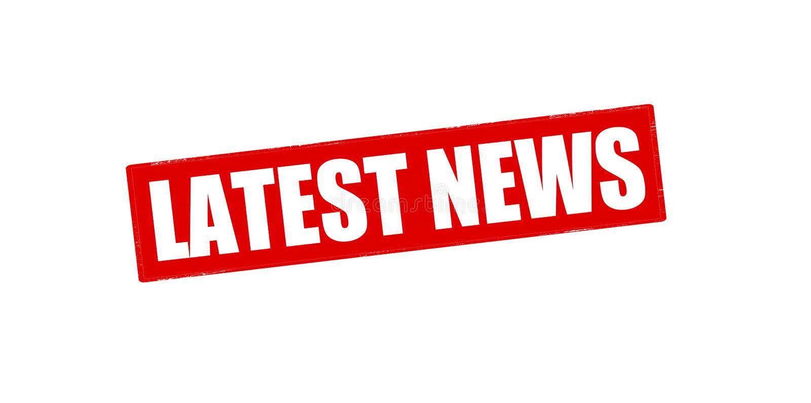 Latest news. Rubber stamp with text latest news inside, illustration royalty free stock photo