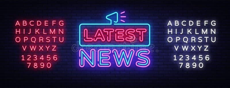Latest News Sign Vector Design Template. Breaking News Neon Logo ...