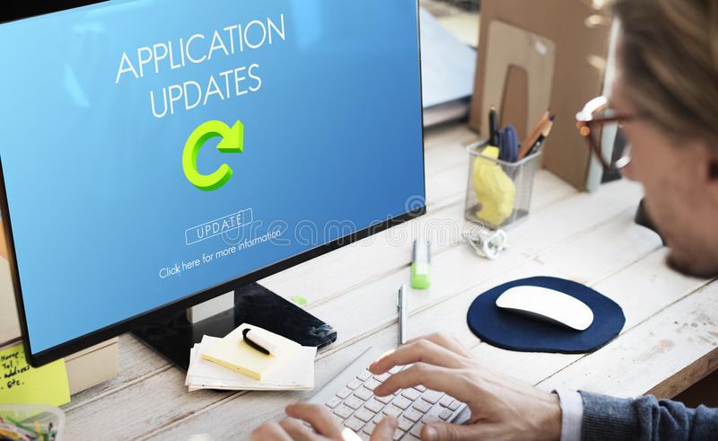 Latest Version Fresh Updates Application Updates Concept royalty free stock images