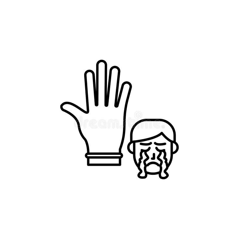 Latex, allergisch gezichtspictogram Element van problemen met allergieënpictogram Dun lijnpictogram voor websiteontwerp en ontwik stock illustratie