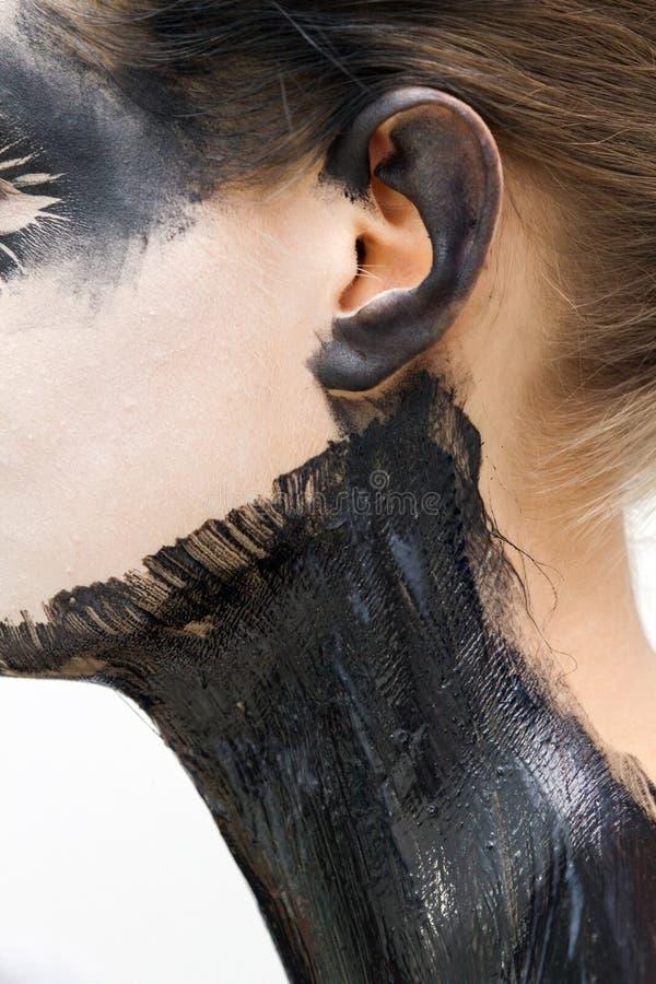 Latex auf Haut stockbilder