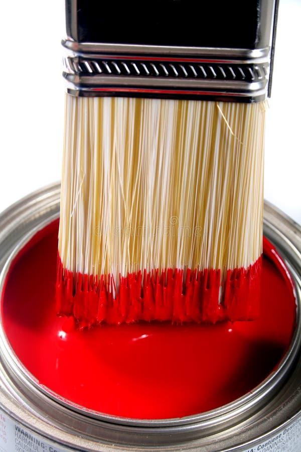Latex-Bautenanstrichfarbe stockbild