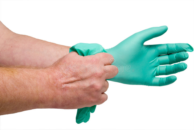 Latex Free Medical Gloves royalty free stock photo