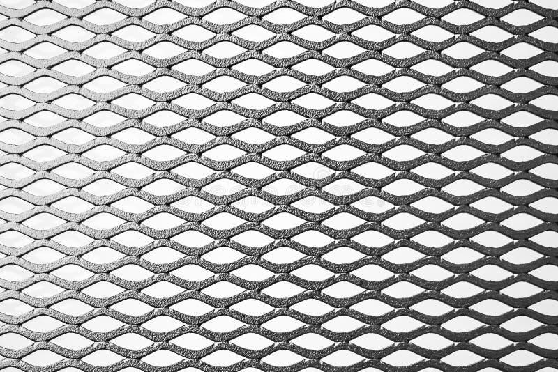 Lath expandido metal no fundo branco foto de stock royalty free