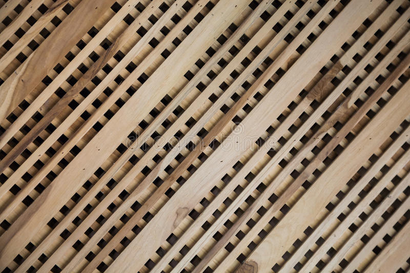 Lath wood. It`s made from little wood and put layered place royalty free stock photography