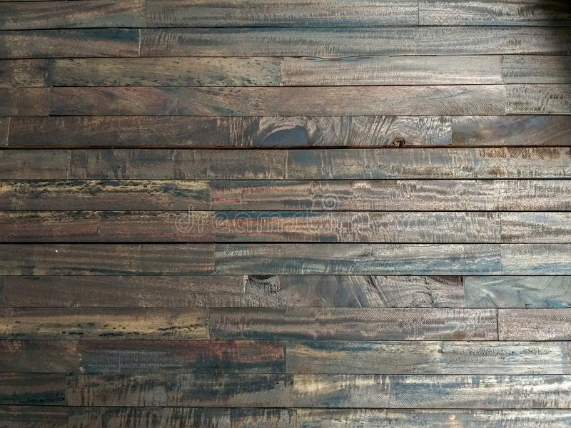 Lath wood texture. Brown horizontal background stock photography