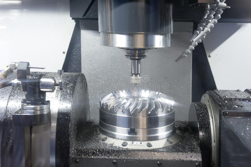 Lathe, CNC milling. Photo of Lathe, CNC milling stock image