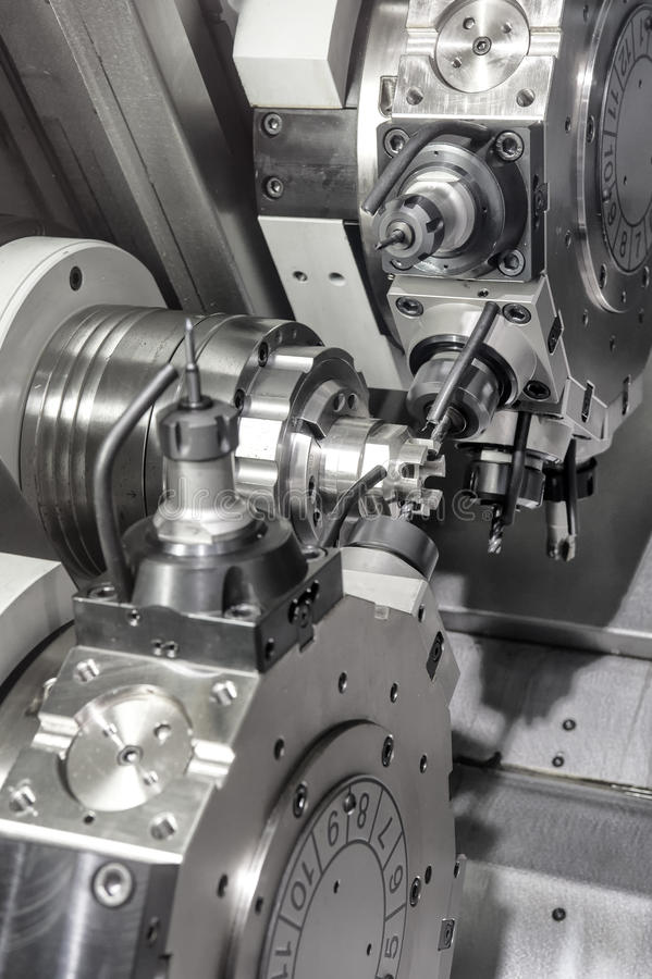 Lathe, CNC milling. Photo of an industrial Lathe, CNC milling stock photos