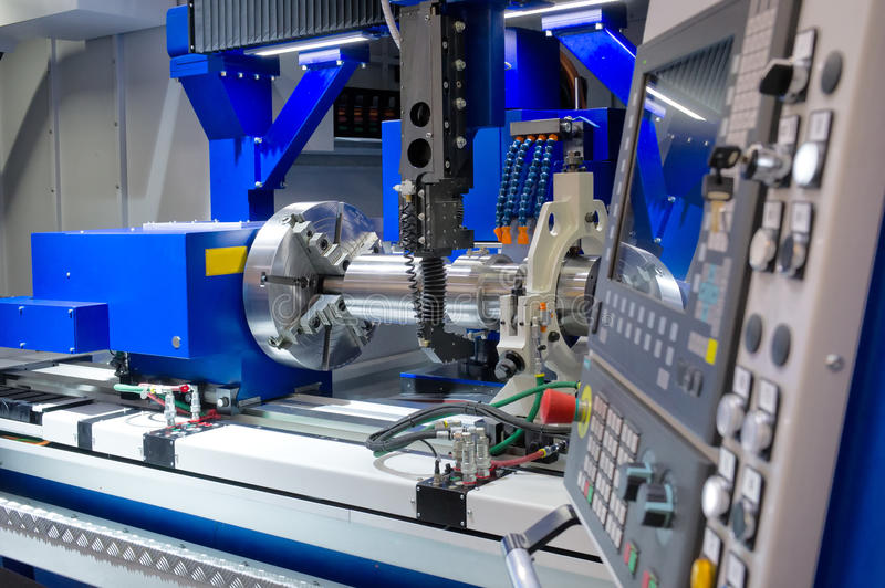 Lathe, CNC milling. Photo of an industrial Lathe, CNC milling royalty free stock image