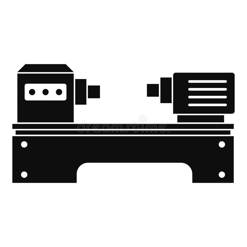 lathe machine icon simple style stock vector