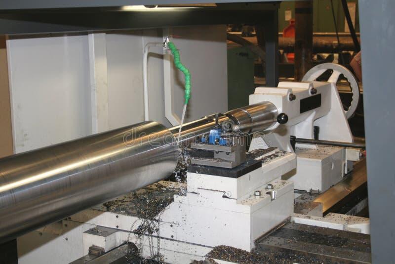 Lathe Turning Stainless Steel. Turning royalty free stock images