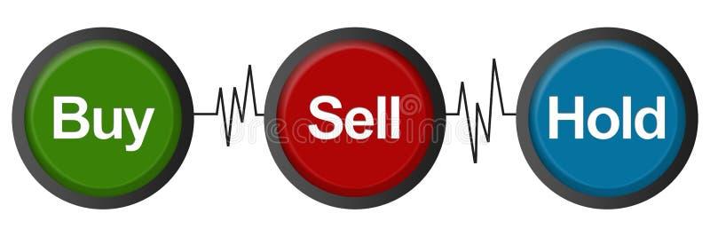 Latidos del corazón de compra-venta del control stock de ilustración