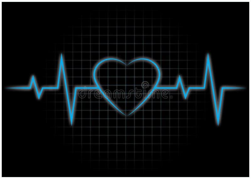 Latidos Del Corazón, ECG Ilustración Del Vector