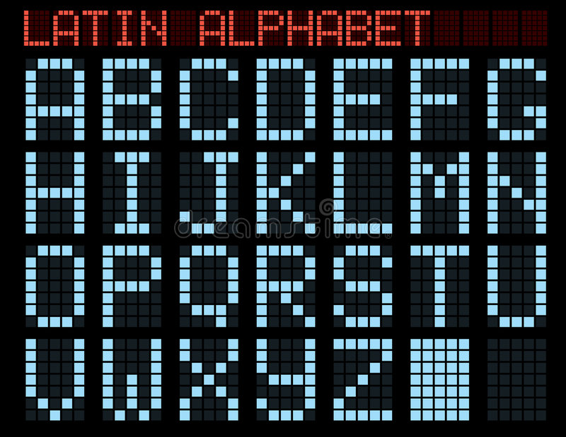 Latijns alfabet. royalty-vrije illustratie