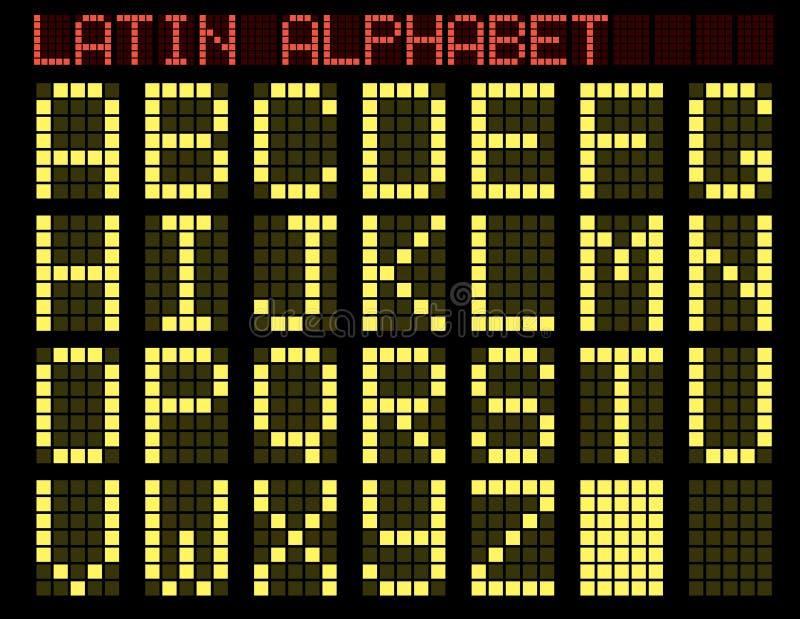 Latijns alfabet. Indicator. royalty-vrije illustratie