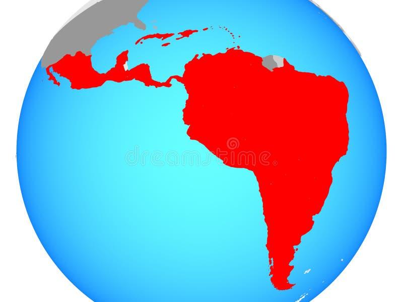 Latijns Amerika op kaart vector illustratie