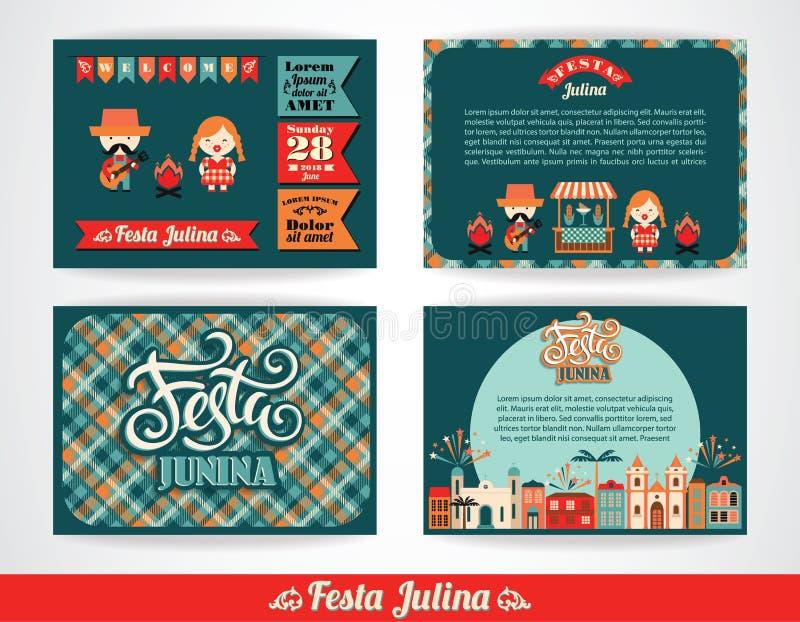 Latijns-Amerikaanse vakantie, de Juni-partij van Brazilië royalty-vrije illustratie