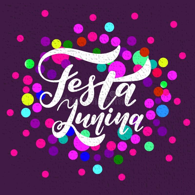 Latijns-Amerikaanse vakantie Festa Junina Traditionele het Festivalpartij van Brazilië Juni vector illustratie
