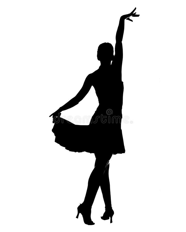 Latijns danserssilhouet stock illustratie
