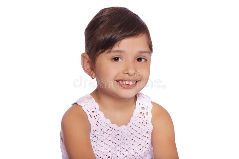 Latijns kindmeisje royalty-vrije stock afbeeldingen