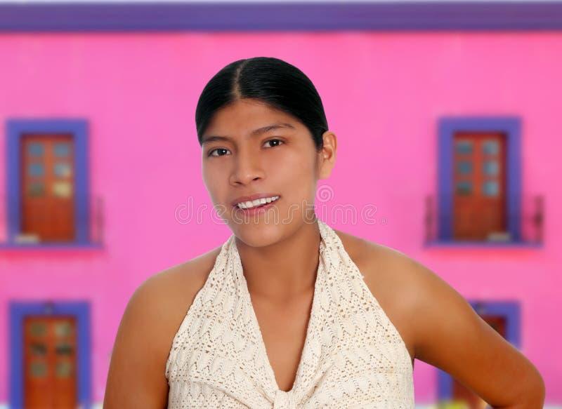 Latijns Spaans mayan vrouwenportret royalty-vrije stock foto